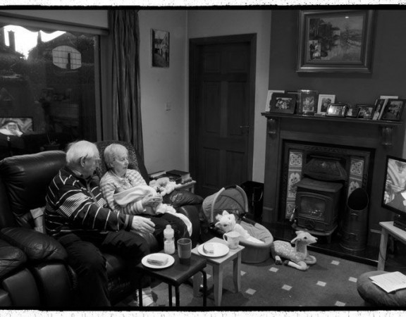 anziani con nipote