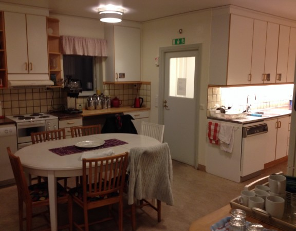 A small domestic style kitchen in a care unit in Sweden
